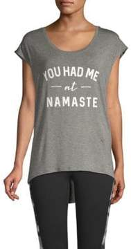 Gaiam Dani Cap-Sleeve Namaste Tee
