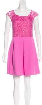Pinko Lace-Accented Mini Dress