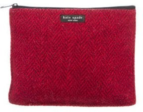 Kate Spade New York Herringbone Cosmetic Bag