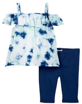 Splendid Allover Tie Dye Top & Legging Set (Baby Girls)