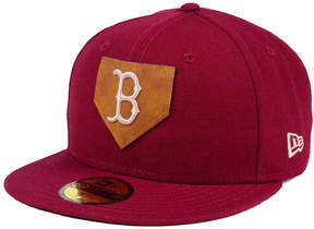 New Era Boston Red Sox The Logo of Leather 59FIFTY Fitted Cap