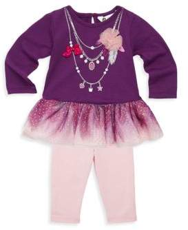 Petit Lem Baby Girl's Two-Piece Twinkle Dress & Leggings Set