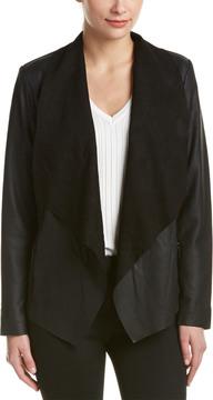 Bernardo Drape-Front Leather Jacket