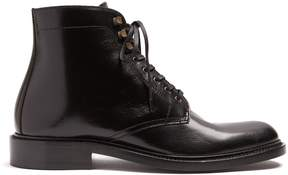 Saint Laurent Army lace-up leather ankle boots