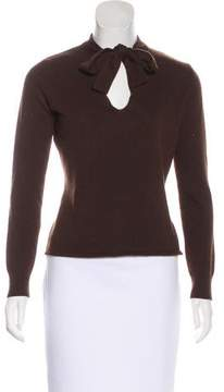 Max Mara Tie-Accented Knit Sweater