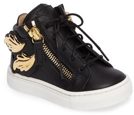 Giuseppe Zanotti Toddler Girl's Foglia Embellished Zip Sneaker