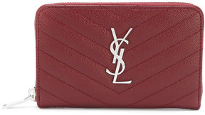 Saint Laurent zip around purse - RED - STYLE