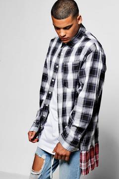 boohoo Long Sleeve Oversize Check Shirt