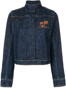 Courreges high neck denim jacket