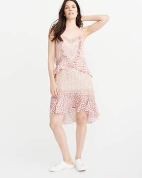 Abercrombie & Fitch Ruffle Midi Dress