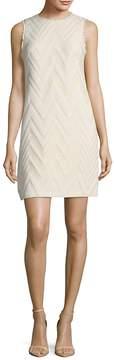 Donna Ricco Women's Textured Fringed Sleeveless Dress