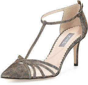Sarah Jessica Parker Carrie Shimmery T-Strap 70mm Pump