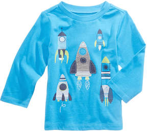 First Impressions Rockets-Print Cotton T-Shirt, Baby Boys (0-24 months), Created for Macy's