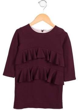 Molo Girls' Tiered Ruffled Dress