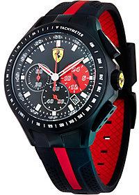 Ferrari men's Black Silicone Strap Race Day Watch