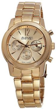 August Steiner Gold-Tone Ladies Watch