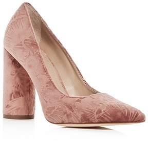 Pour La Victoire Women's Cece Embossed Velvet Pointed Toe Pumps