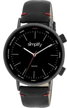 Simplify The 3300 Collection SIM3306 Black Analog Watch