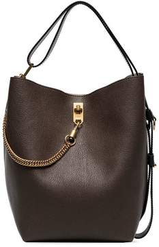 Givenchy brown gv3 grained leather bucket bag