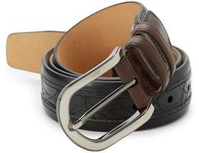 Mezlan Men's Saratoga Crocodile Leather Belt