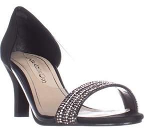 Caparros Fancy Peep-toe Embellished Evening Pumps, Black.
