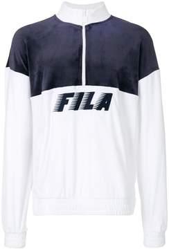 Fila Easton contrast panel zipped sweatshirt