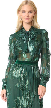 Anna Sui Iridescent Moonlight Garden Top