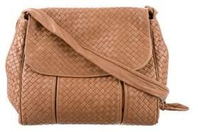 Bottega Veneta Vintage Intrecciato Leather Messenger Bag