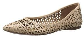 French Sole Womens Quantum Pointed Toe Slide Flats.