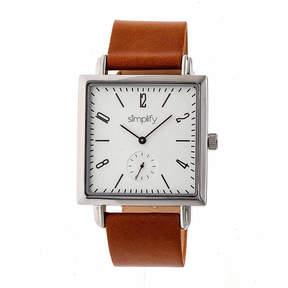 Simplify Mens Brown Strap Watch-Sim5003