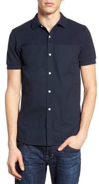 French Connection Slim Fit Short Sleeve Sport Shirt