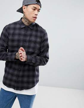 Pull&Bear Regular Fit Shirt In Black Check