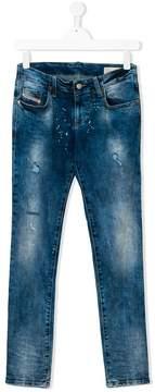 Diesel Teen splash print jeans