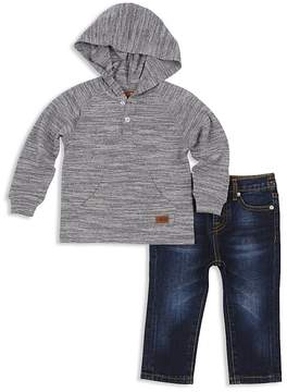 7 For All Mankind Boys' Hooded Henley & Jeans Set - Baby
