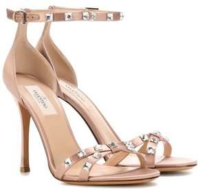 Valentino Rockstud Glam satin sandals