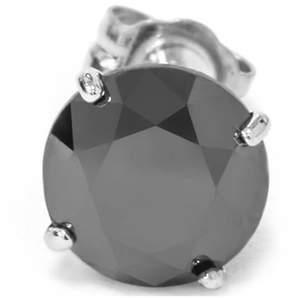 Black Diamond Pompeii3 Mens 1/2ct Stud Earring 10k White Gold.