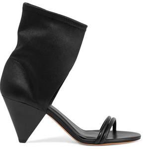 Isabel Marant Melvy Leather Sandals - Black