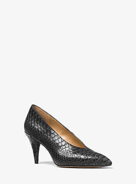 Michael Kors Lizzy Embossed-Leather Choked Pump