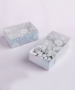 Watercolor Frosted Floral Slide Favor Box - Set of 24