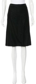 Andrew Gn Velvet Knee-Length Skirt