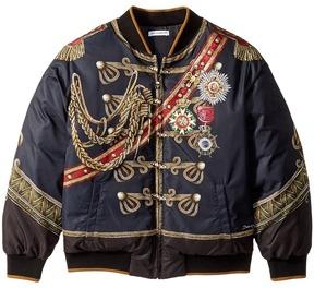 Dolce & Gabbana Heraldic Bomber Jacket Boy's Coat