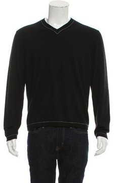 Hermes V-Neck Knit Sweater