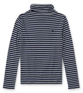 Ralph Lauren Striped Turtleneck Shirt Newport Navy/Nevis S