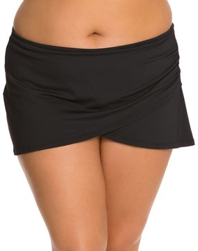 Anne Cole Plus Size Solids Sarong Swim Skirt 8127756