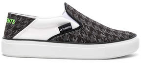 Vetements Canvas Checkerboard Slip On Sneakers
