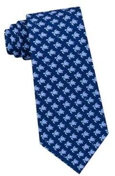 Lord & Taylor The Mens Shop Swimming Turtles Silk Tie