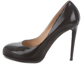 Reed Krakoff Perforated Patent Leather Pumps