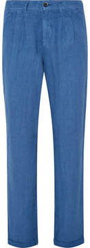 Barena Slim-Fit Pleated Linen Trousers