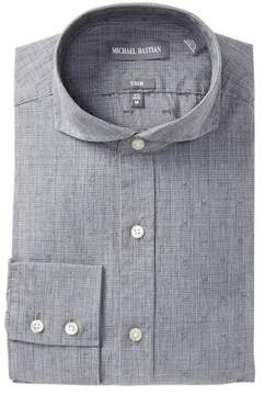 Michael Bastian Trim Fit English Plaid Dress Shirt