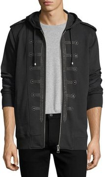 Just Cavalli Regimental Studded Cotton Hoodie